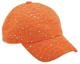 GreatLookz Glitzy Game Crystal Sequin Trim Women's Adjustable Glitter Baseball Cap