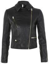 Topshop Real leather biker jacket