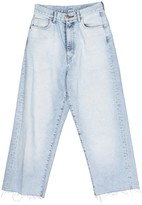 Bassike Blue Cotton Jeans for Women