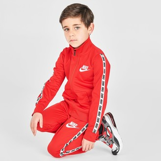 Nike Boys' Little Kids' Taping Tricot Track Jacket and Pants Set