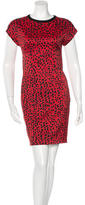 Fausto Puglisi Cheetah Print Mini Dress