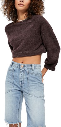 Free People Jade Cropped Pullover Sweater