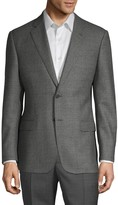 Armani Collezioni G-Line Fit Check Virgin Wool Jacket