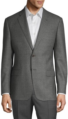 Armani Collezioni G-Line Fit Check Virgin Wool Jacket