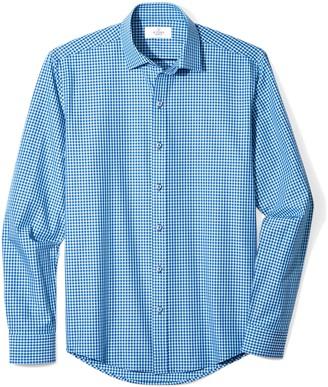 Buttoned Down Amazon Brand Men's Slim Fit Supima Cotton Spread-Collar Dress Casual Shirt