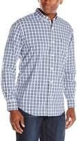 Izod Men's Long Sleeve Button Down Tattersall Woven Shirt