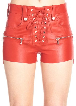 Unravel Project Lace-Up Hot Pants