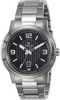 Titan Men's 'Neo' Quartz Metal and Brass Casual Watch, Color:Silver-Toned (Model: 1730SM03)