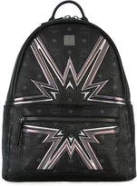 MCM logo print backpack - unisex - Leather/plastic - One Size