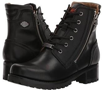 Harley-Davidson Asher (Black) Women's Zip Boots