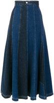 Alexander McQueen A-line denim skirt