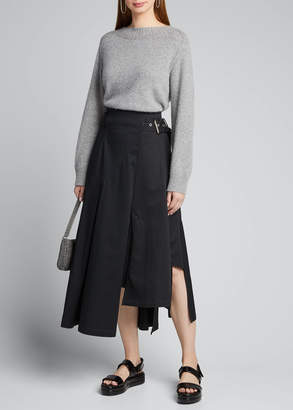 3.1 Phillip Lim Belted High-Low Twill Utility Skirt