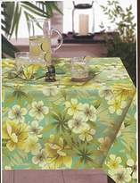 Tommy Bahama Oahu Indoor Outdoor Water Repellent Tablecloth, 70-Inch Round