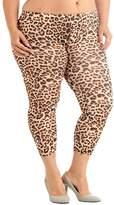 Dinamit Jeans Plus Size Tribal Weave Winter Blue Ankle Leggings