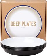 Falcon Deep Plate - Set of 4 - Coal Black