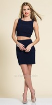 Dave and Johnny Two Piece Illusion Back Cocktail Dress