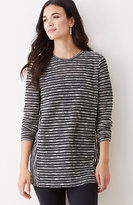 J. Jill Striped Crew-Neck Tunic