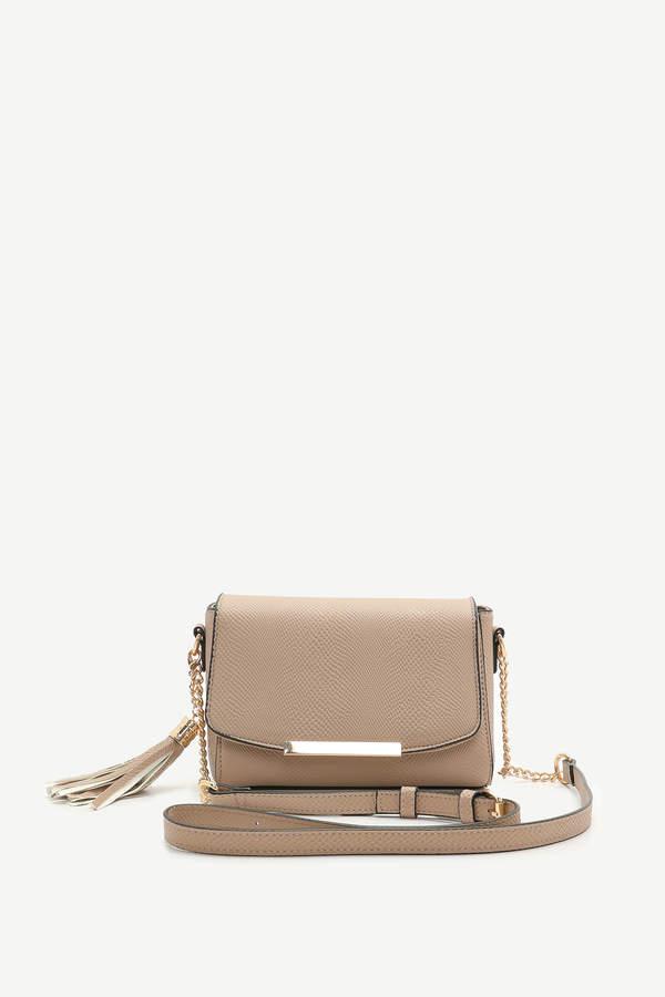 Ardene Snakeskin Crossbody Bag with Tassel