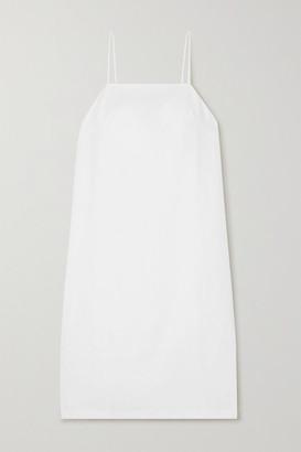 MATIN Linen Midi Dress - White