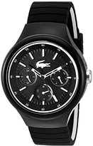Lacoste Men's 'Borneo' Quartz Resin and Silicone Casual Watch, Color:Black (Model: 2010870)