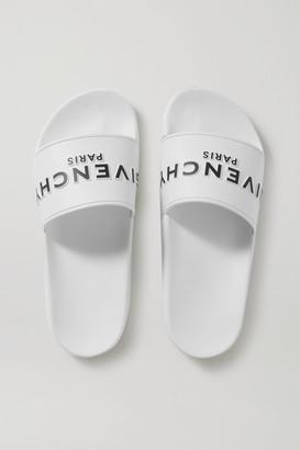 Givenchy Logo-print Rubber Slides - White