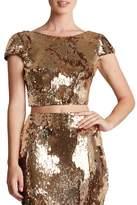 Dress the Population 'Gigi' Scoop Back Sequin Crop Top