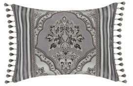 "J Queen New York Silverstone Boudoir Decorative Throw Pillow, 20"" x 15"" Bedding"