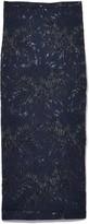 Rochas Lavanda Skirt in Navy