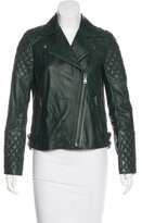 Gerard Darel Leather Quilted Jacket