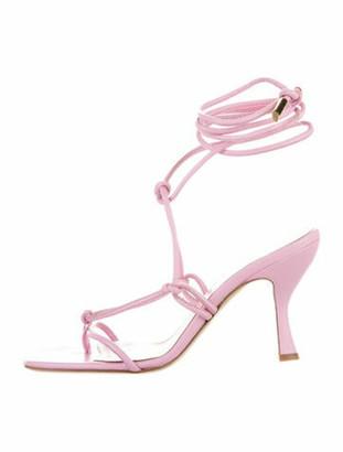 Gia Couture Leather Sandals Orange