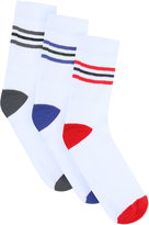 Yours Clothing BadRhino White 3 Pack Sport Socks