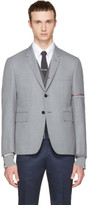 Thom Browne Grey Selvedge Blazer