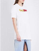 Ground Zero Logo-print smocked cotton-jersey top
