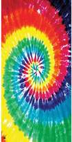 Old Glory Rainbow Swirl TieDye Velour Beach Towel