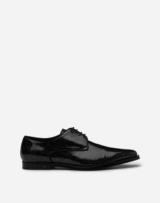 Dolce & Gabbana Derby In Drop-Style Patent Leather