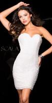 Scala Strapless Sequin Vixen Cocktail Dress