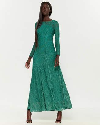 Missoni Metallic Long Sleeve Maxi Dress