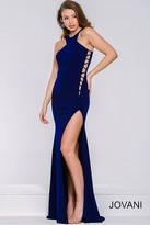Jovani Jersey High Slit Prom Dress 42344