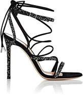 Gianvito Rossi Women's Libra Suede Sandals-BLACK
