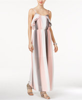 Bar III Ruffled Maxi Dress, Only at Macy's