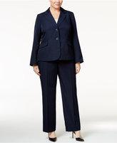 Le Suit Plus Size Pinstripe Two-Button Pantsuit