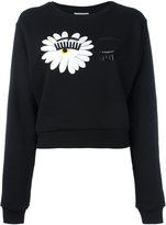 Chiara Ferragni wink patches sweatshirt