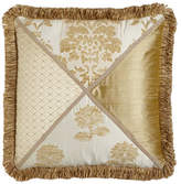"""Austin Horn Classics Antoinette Pieced Pillow with Loop Fringe, 20""""Sq."""