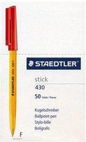 Staedtler Stick 430 ballpoint pen fine box 50 red 430 F-2CP5
