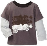Andy & Evan Charcoal Race Car Tee (Baby Boys)