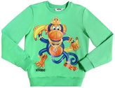 Moschino Monkey Printed Cotton Sweatshirt