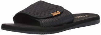 Flojos Men's Duke Flip-Flop Black Weave 11 M US
