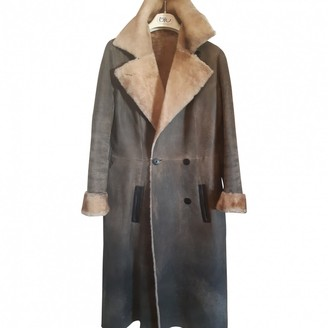 Givenchy Brown Leather Coat for Women