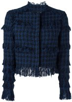 MSGM tweed houndstooth jacket