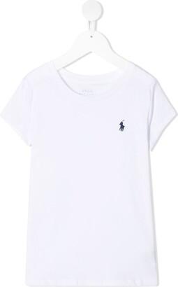 Ralph Lauren Kids Logo-Embroidered Cotton T-Shirt